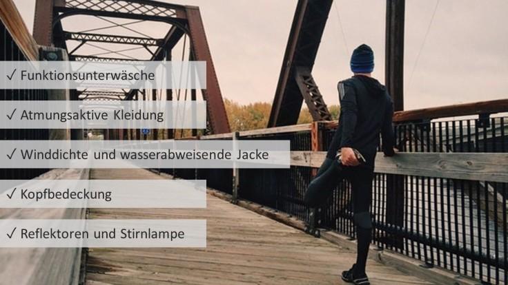 Laufen im Winter - die richtige Kleidung