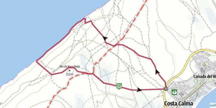 Laufstrecke Fuerteventura - von Costa Calma zur Westküste - 12 km